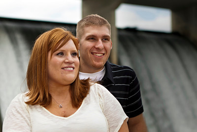 Engagement session with Cindi Coldren & Thomas Stokes photographed Sunday afternoon September 18, 2011 outside of the Columbus Zoo and at the O'Shaughnessy Dam in Dublin, Ohio. (© James D. DeCamp | http://OurDreamPhotos.com | 614-367-6366)