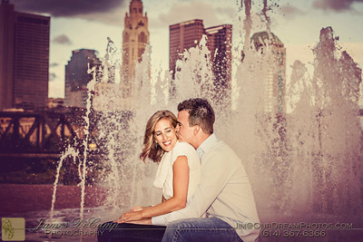 Engagement session with Allison Graham and Josh Eastman at Northbank Park Tuesday evening September 18, 2012.  (© James D. DeCamp | http://www.OurDreamPhotos.com | 614-367-6366)