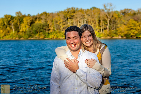 Engagement session with Courtney Karn and Andrew Hanna at Antrim Park Sunday evening September 30, 2012.  (© James D. DeCamp | http://www.OurDreamPhotos.com | 614-367-6366)