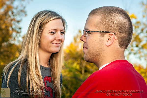 Engagement session with Devon Ody and Matt Margala on the Ohio State University Campus Sunday afternoon October 22, 2012. (© James D. DeCamp | http://OurDreamPhotos.com | 614-367-6366)