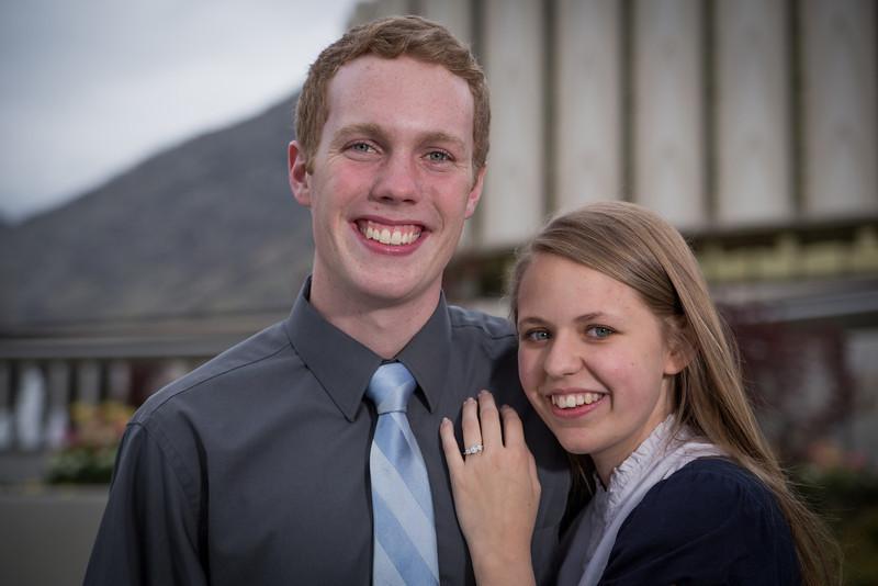 Ben & Chelsea - Provo Temple Engagements