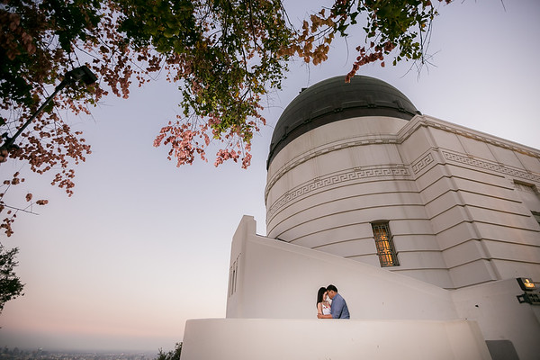 Charmaine and Mike | Pasadena City Hall | Griffith Observatory Engagement