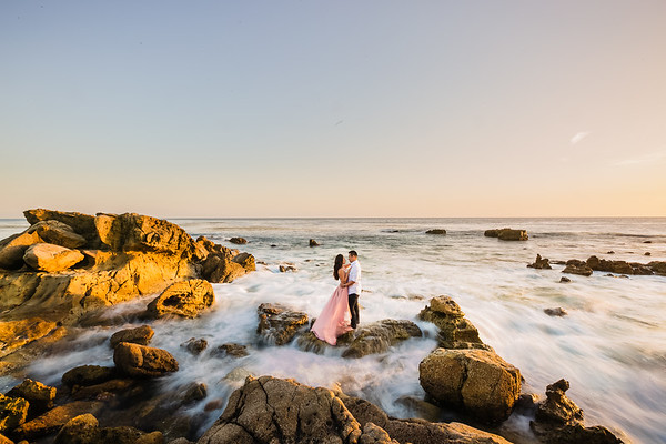 Christina and James | The Mission San Juan Capistrano Engagement
