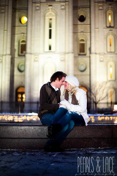 Brittanie & Daniel Temple Square