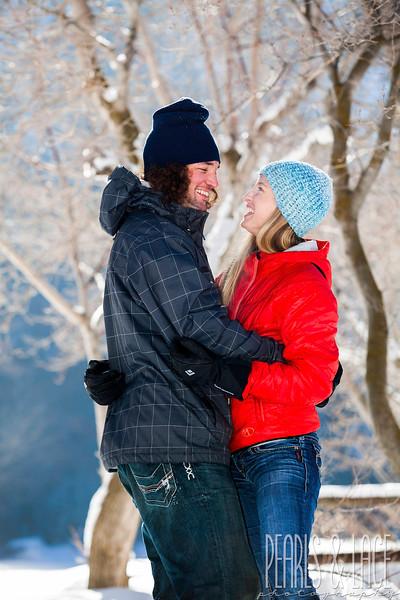 Sarah & Scott Big Cottonwood Canyon Engagement Session