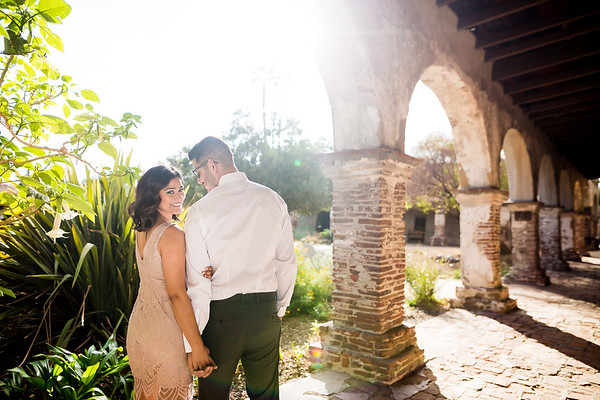 Ivonne and Alfonso | Mission San Juan Capistrano Engagement