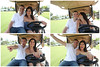 Golf-cart-engagement-session