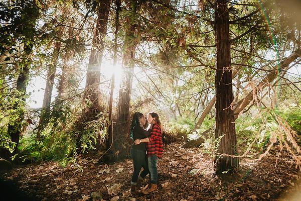 Patricia and Tenesha Engagement | Newport Environmental Nature Center