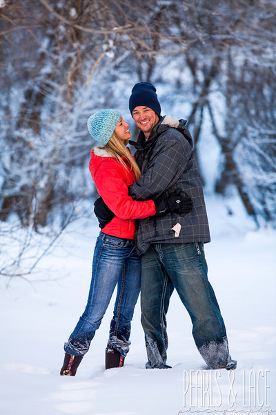 Sarah & Scott Big Cottonwood Canyon Engagement Session