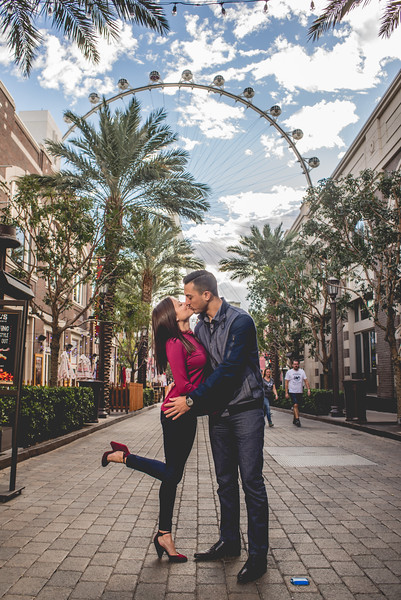 Colorful Vegas Engagement Session
