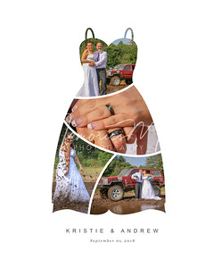 Wedding Dress Collage  - Can be printed as 8x10, 11x14, or 16x20 only