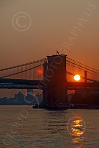 BRIDGE 00005 The sun sets behind a bridge in New York City, by John G Lomba
