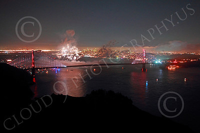 ENGF-GGB 00360 Fireworks burst above the Golden Gate Bridge to celebrate a landmark anniversary picture by Peter J Mancus