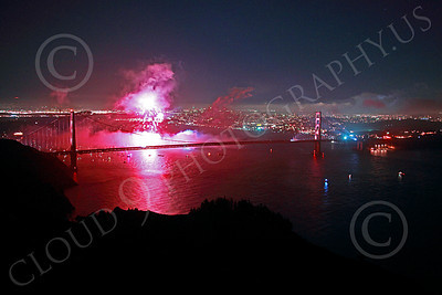 ENGF-GGB 00364 Pink fireworks burst above the Golden Gate Bridge to celebrate a landmark anniversary picture by Peter J Mancus