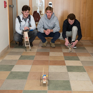 Engineering class builds mouse trap cars