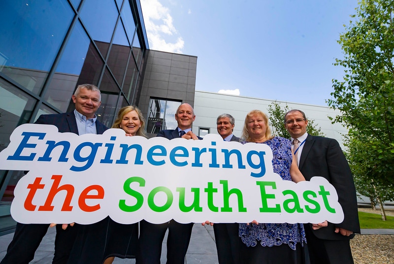 20/06/2019. Engineered for success. Industry leaders launch cluster to promote engineering in South East.<br /> <br /> Engineering the South East was launched in Wexford this morning with a mission to see companies working together to address skills needs, promote careers in engineering and advance the engineering capabilities of the region. <br /> <br /> Pictured are Martin Stapleton CDS Architectural Metalwork, Kilkenny, Lily Holmes, Burnside Group, Carlow, Michael Carbery, new chair of 'Engineering the South East' & Keenan Alltech Borris, Edmond Connolly South East Regional Skills Forum, Carrie Rockett, Integer, New Ross, Liam Hore, Waters Technologies, Wexford.. Picture: Patrick Browne