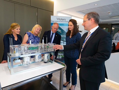 20/06/2019. Engineered for success. Industry leaders launch cluster to promote engineering in South East.  Engineering the South East was launched in Wexford this morning with a mission to see companies working together to address skills needs, promote careers in engineering and advance the engineering capabilities of the region.   Pictured are Lily Holmes, Burnside Group, Carlow, Carrie Rockett, Integer, NewRoss, Michael Carbery, new chair of 'Engineering the South East' & Keenan Alltech, Borris, Celine Walsh, Suir Engineering, Waterford, Liam Hore, Waters Technologies, Wexford.. Picture: Patrick Browne