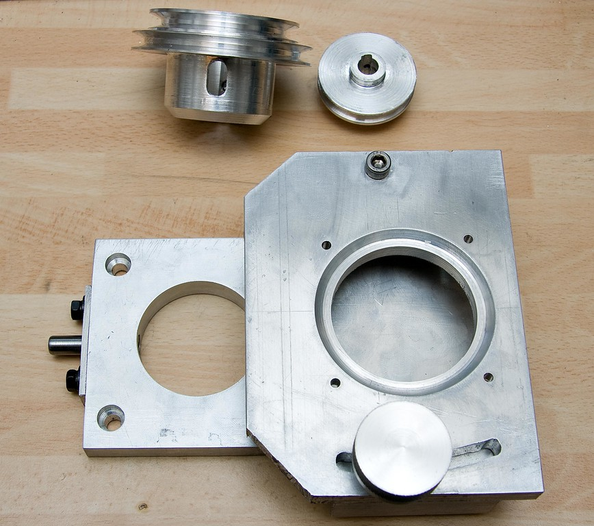 The completed mini-mill belt drive conversion