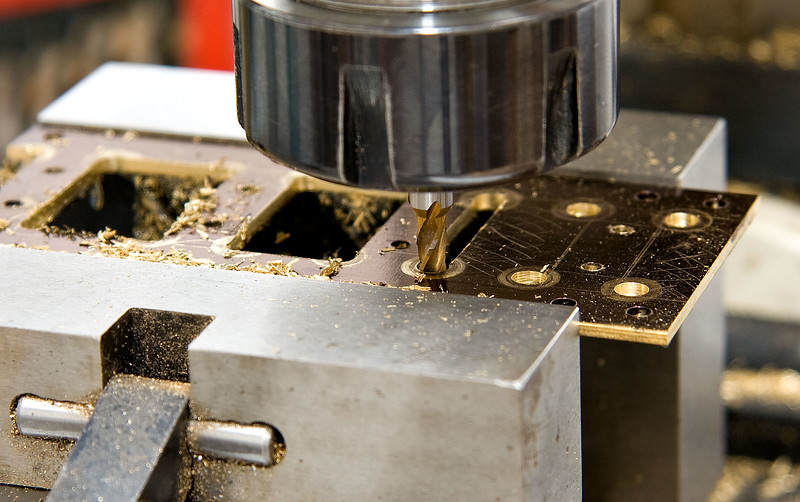 Milling out the bottom plate
