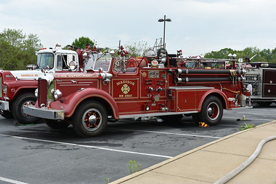 Owners Pride:  Buddy Sutton  Current Markings – Madison New Jersey  Apparatus Information:   •Year:  1953 •Make:   Mack •Manufacturer:  L Model •Gpm/gwt:  750 gpm •Serial Number:  n/a   Photo Credit:  Mike Sanders, Apple Blossom 2019