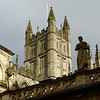Bath Abbey as seen from the Roman bath ruins