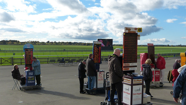 Independent bookmakers at Newmarket racecourse