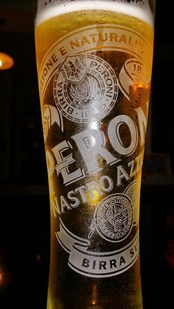 "Jeff's Peroni beer...  ""it was ok"""