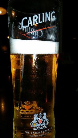 My Carling beer...  one of my other favorite beers in London