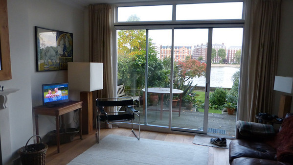 View of Thames River from Putney apartment living room