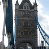 Walking across the London Tower Bridge