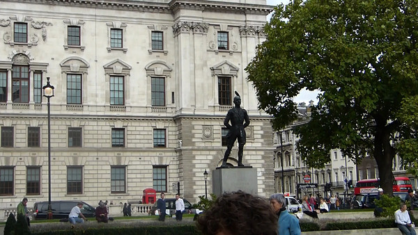 Henry John Temple statue in Parliament Square:  Prime Minister 1855–1858 and 1859–1865