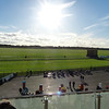 View of Newmarket racecourse from the grandstand - the track is grass only and is one straight line... no curves or turns