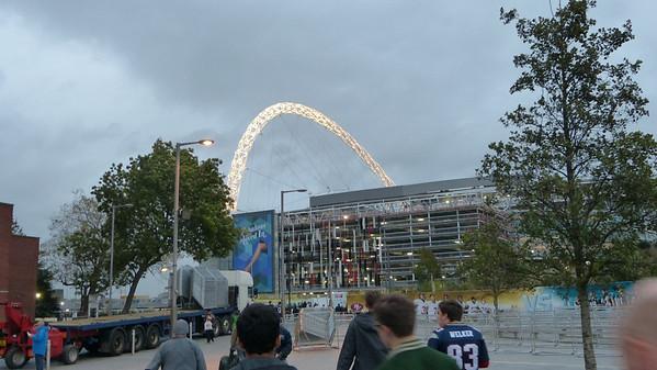 Approaching Wembley Staduim