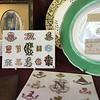 monograms at Royal Worcester porcelain museum