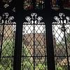 fleur-de-lis windows in cloister
