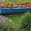 boat of flowers in Tewksbury