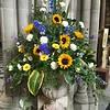 flower arrangement in Cathedral