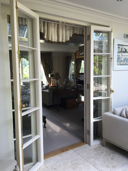 french doors at Parsonage