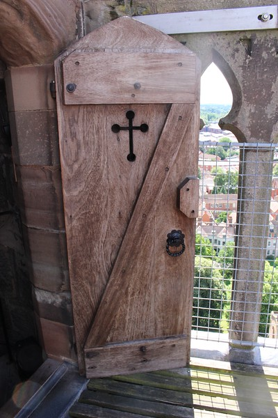 Door to Bell Tower stairwell