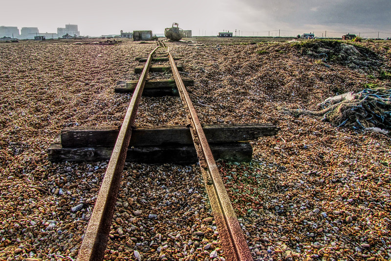Old Rail Tracks - Dungeness Beach