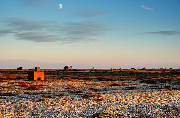The Moon over Dungeness