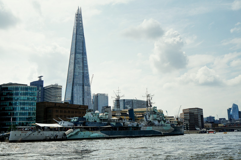 The Shard and HMS Belfast