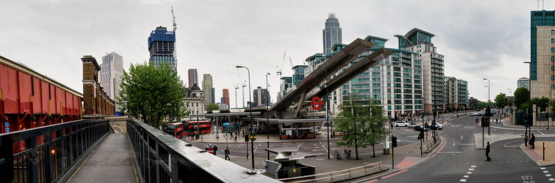 Panorama at Vauxhall Station