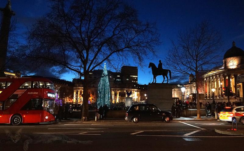 View towards Trafalgar Square