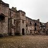 Raglan Castle courtyard, Wales