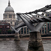 Milennium Bridge and St. Paul's Cathedral