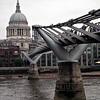 Milennium Bridge and St. Paul's Cathedral