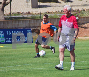 Michael Owen with the England National Football Squad training at La Manga Club, 24th May 2003