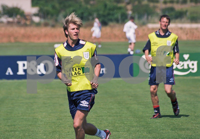 David Beckham training at La Manga Club with the England World Cup Squad,  1st June 1998