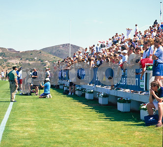 Spectators watching the England World Cup Squad training at La Manga Club, 25th May 1998